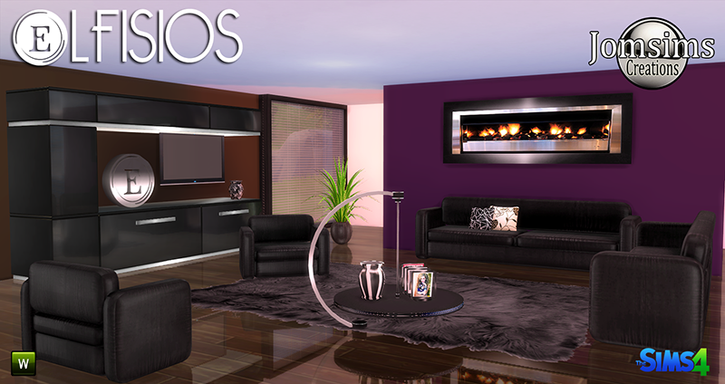 My sims 4 blog lfisios living set by jomsims for Sims 4 meuble a telecharger