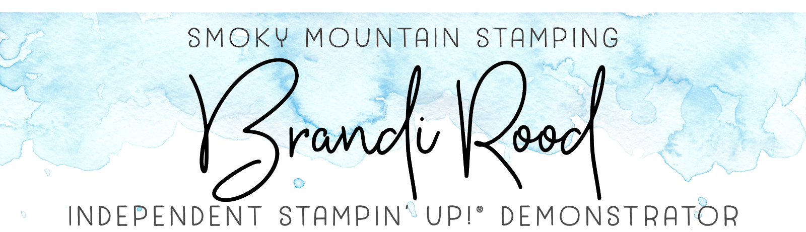 Brandi Rood, Independent Stampin' Up! Demonstrator