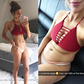 Before & after transformation abs fitness star healthy natural normal Anna Victoria