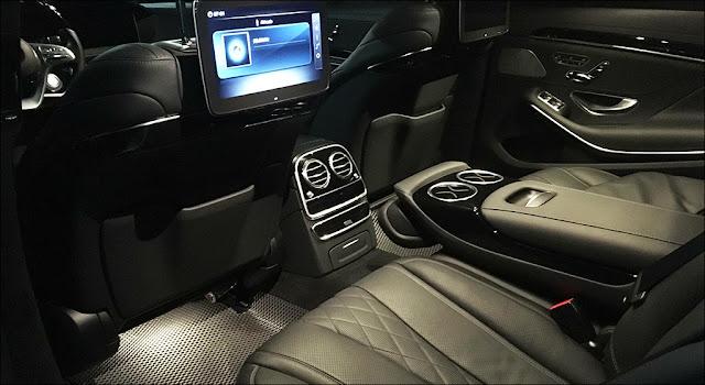 Tiện ích phía sau trên Mercedes S450 L Luxury 2019 sử dụng rất dễ dàng và tiện lợi