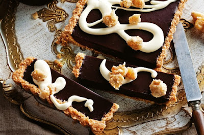 Choc macadamia rum tart desserts recipes