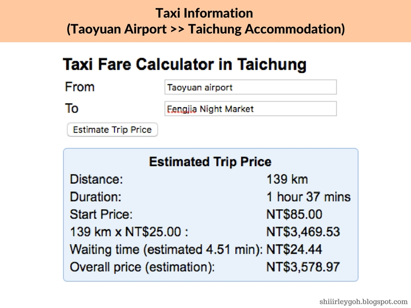 Taoyuan to taichung best option
