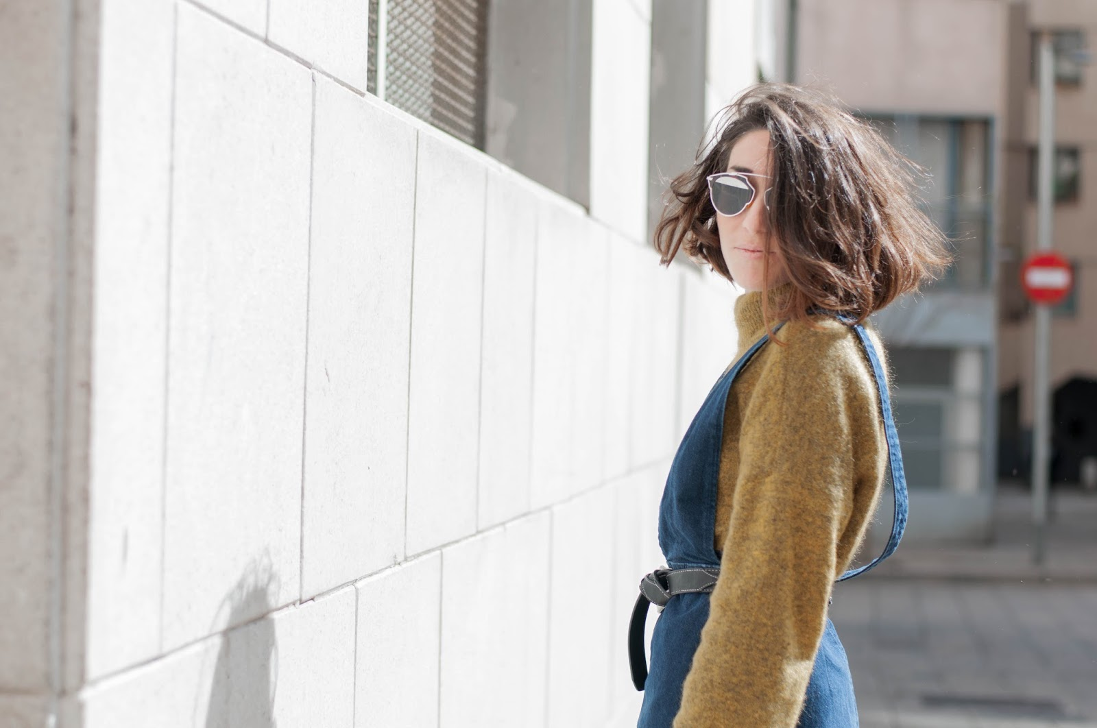 Mono y Jersey H&M, botines Zara