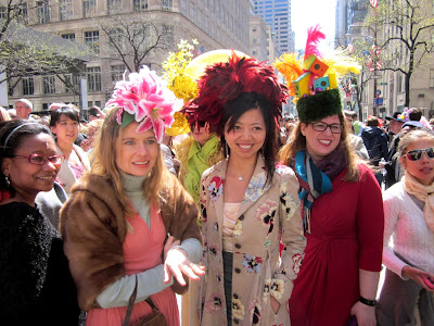 Three Easter hats by the Tipsy Topper (photo from Idiosyncratic Fashionistas)