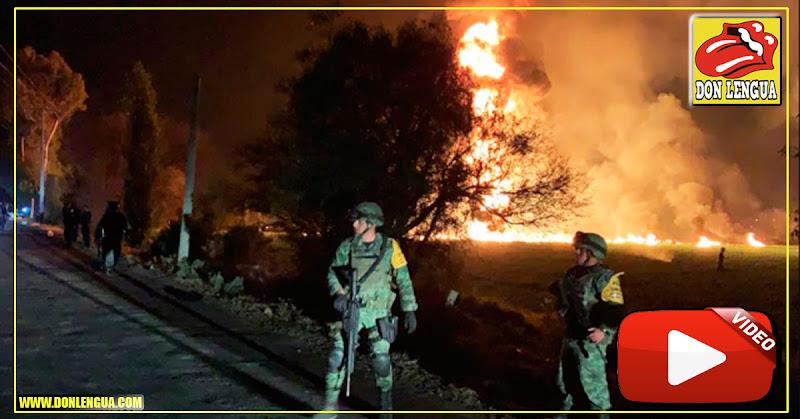 20 muertos y 70 heridos tras estallar tubería ilegal de combustible en México