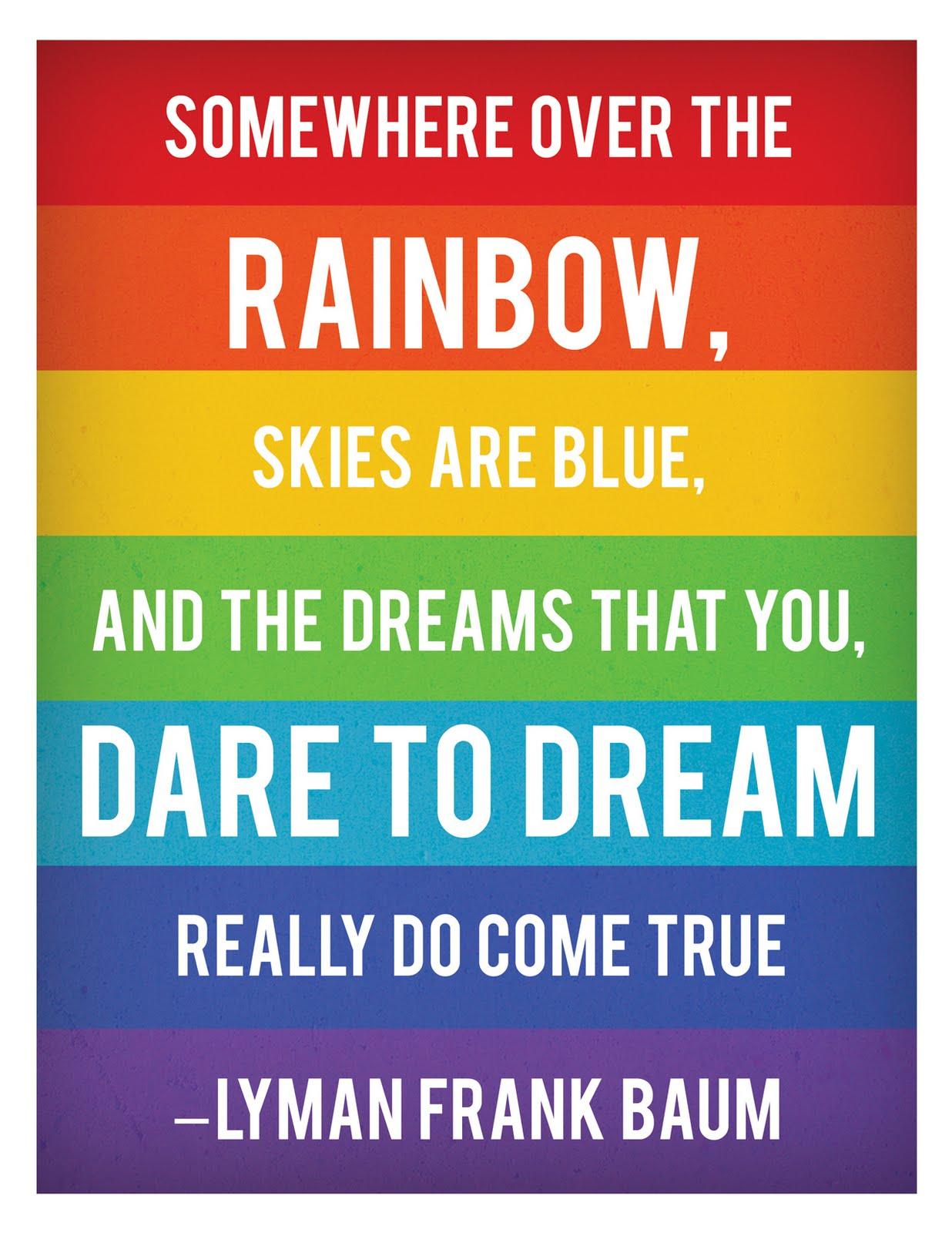 Somewhere Over The Rainbow Printable Quote