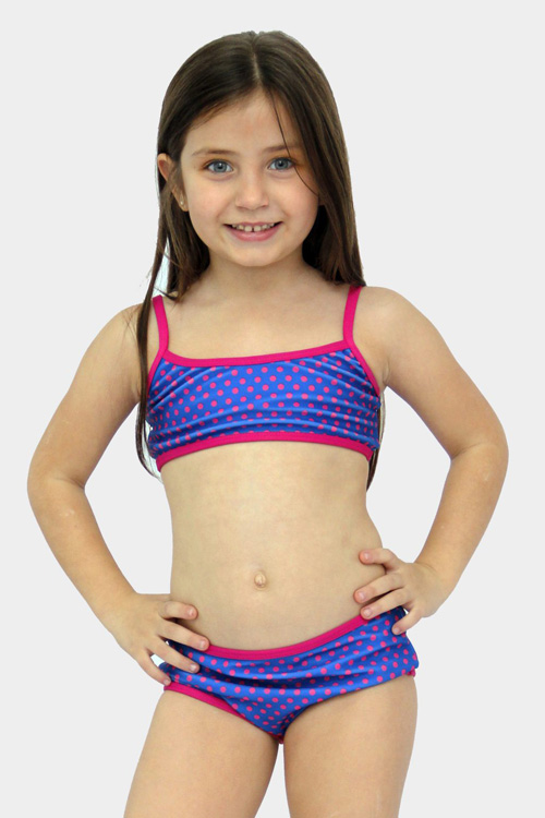 Moda primavera verano 2018 bikinis para niñas.