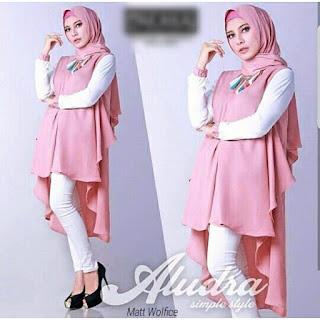 Jual Baju Atasan Muslim Wanita Aludra Tunik