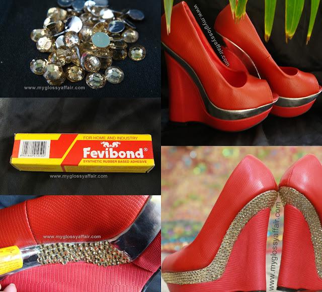 DIY - Red Bridal Wedding Footwear