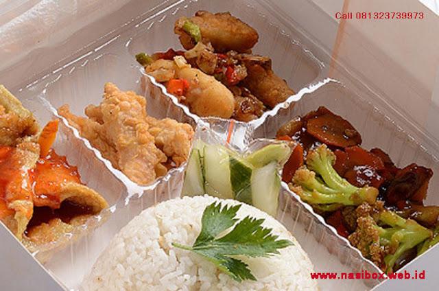 Nasi box ala alfabet catering di ciwidey