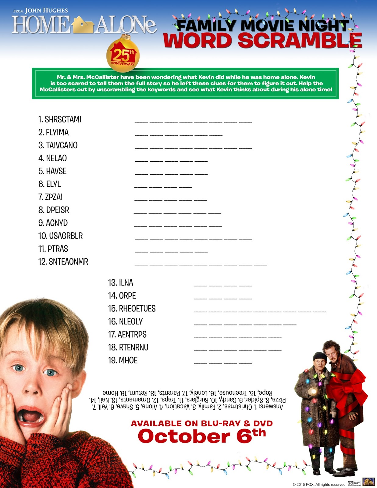 Mommy Blog Expert Holiday Home Alone Kids Free Printables Fun Activity Sheets Celebrate 25th