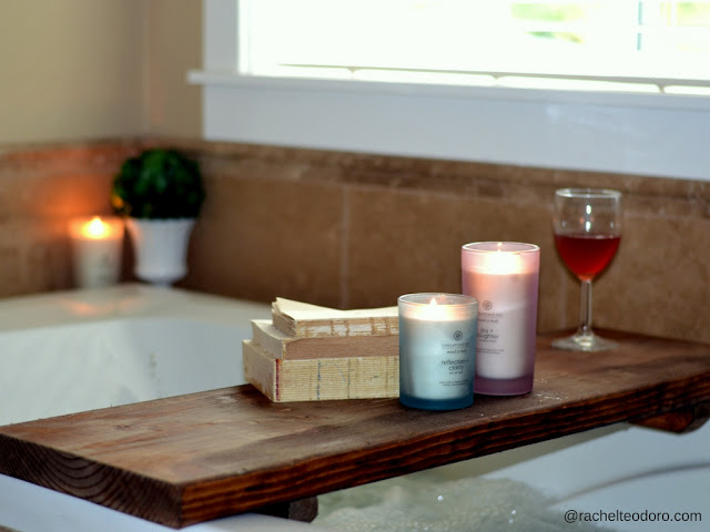 at home spa, candles, decorating with candles, easy to make
