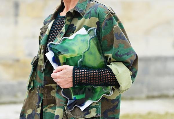 Veste camouflage femme