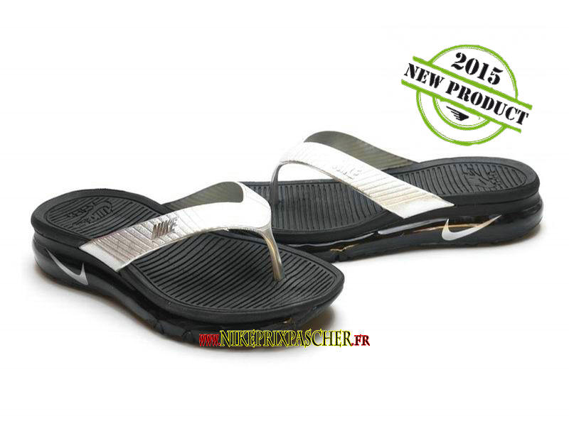 the best attitude e9390 fd0ca Nike Air Max sandalette ou nu-pied Noir Argent (taille 39-44) Nike Air Max  2015 Sandales Chaussure Pour Homme Femme
