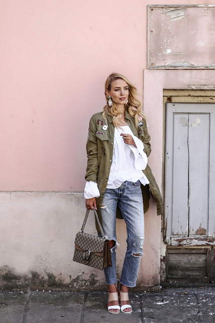 Blogger Fleur Et Fatale, Herbst Trends, Must Haves Herbst, Parka, Patches, Zara, Gucci