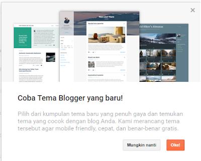 Blogger Meluncurkan Fitur Baru Untuk Theme atau Template