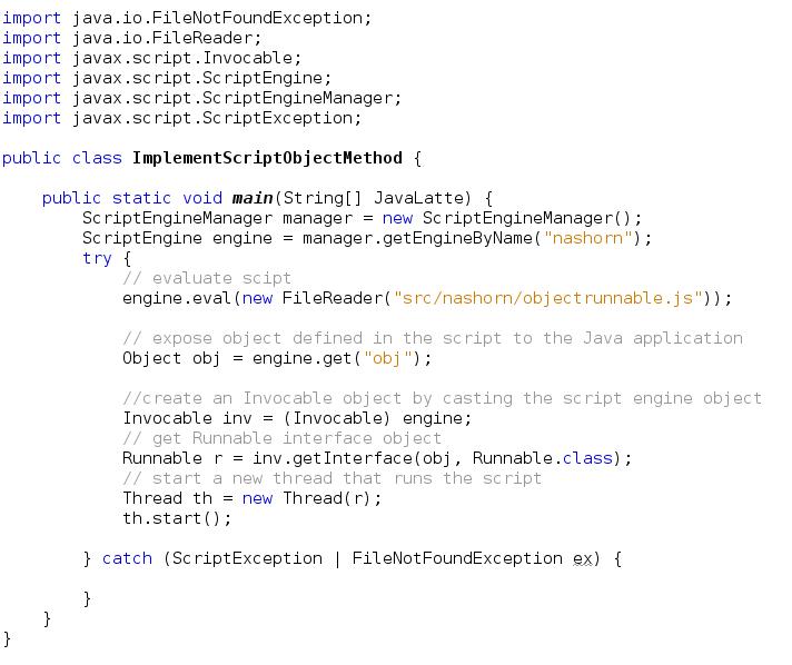 Java-Latte: Oracle Nashorn - JavaScript Engine for the JVM