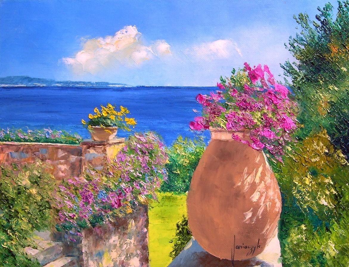 Terraço Florido - Cores alegres e vibrantes nas paisagens de Jean-Marc