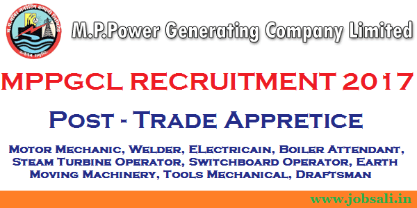 Trade Apprentices jobs 2017, MPPGCL Vacancy, MP Govt jobs