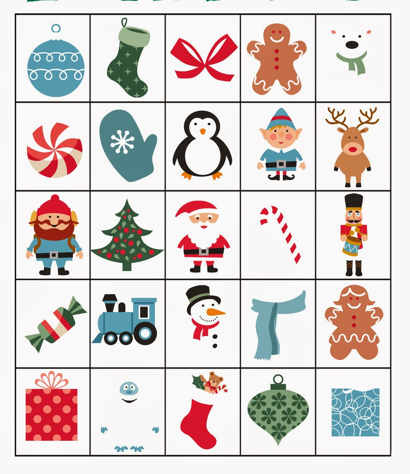 Blue Skies Ahead: Printable Christmas Bingo