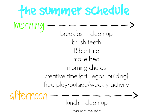 3 free family schedule printables for summer