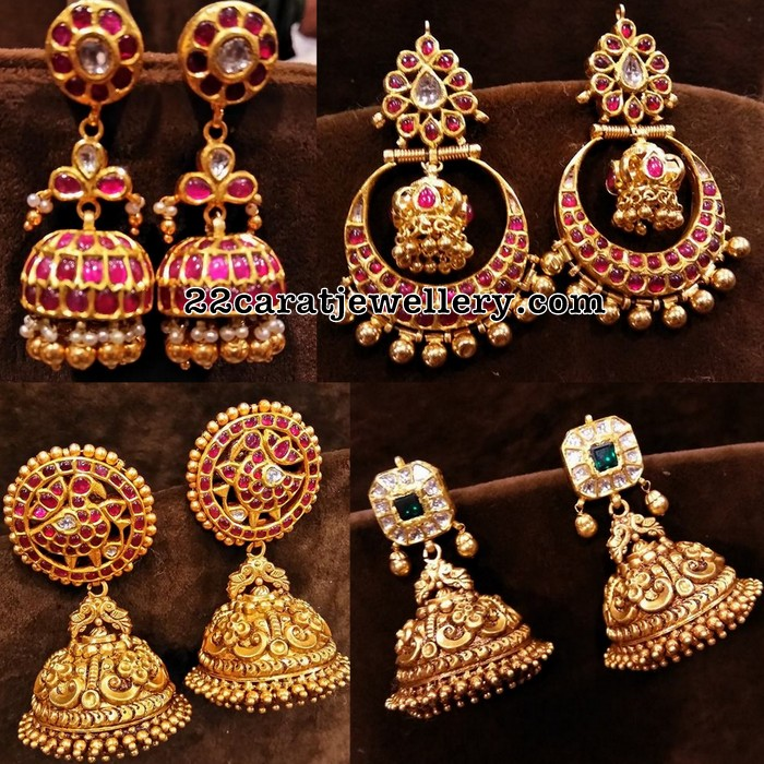 temple jhumkas new collection jewellery designs