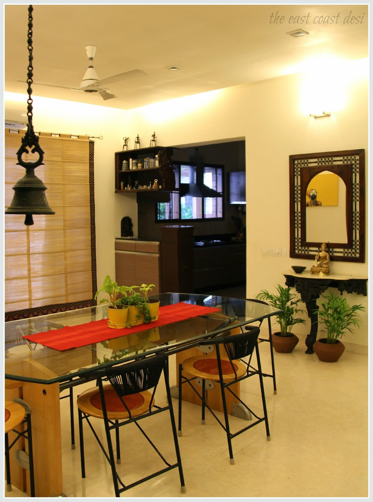 The east coast desi masterful mixing home tour for Dining room designs indian style