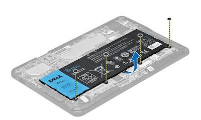 Removing the battery Dell Latitude 10 – ST2e