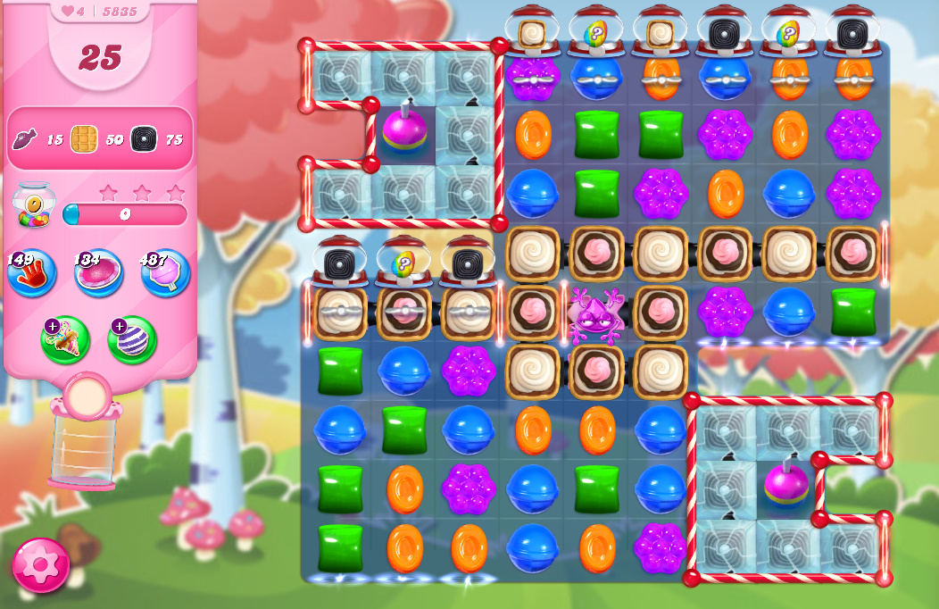 Candy Crush Saga level 5835