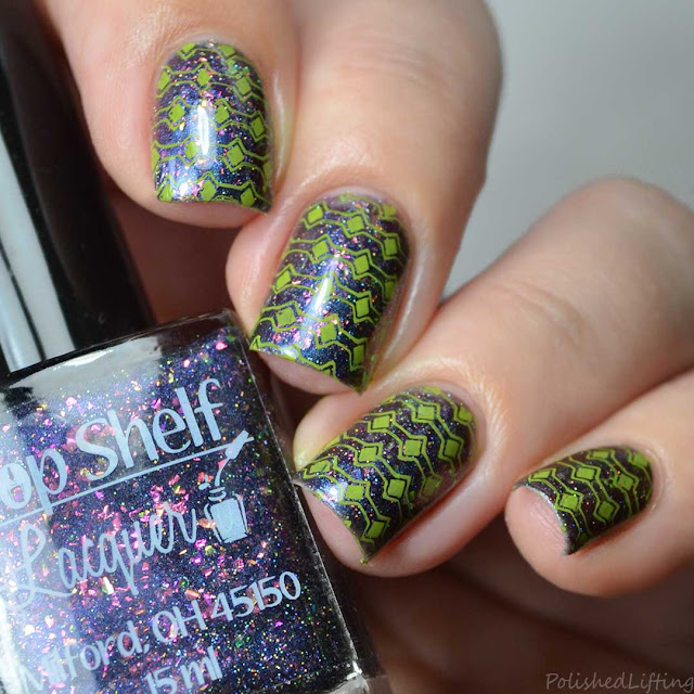 lime green stripe stamping