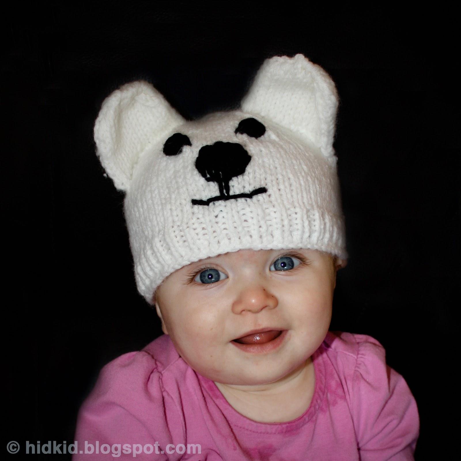 craftimism polar bear knit hat