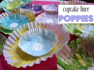 cupcake liner poppies