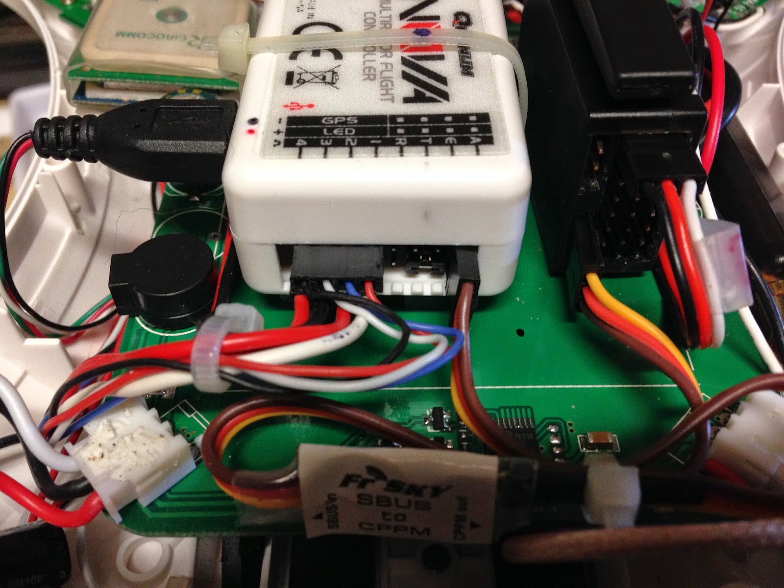 Quadcopter-Robotics: FrSky SBus to CPPM Converter install on
