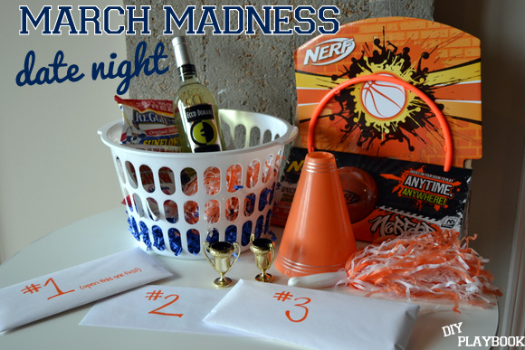 March Madness Date Night Activity Basket
