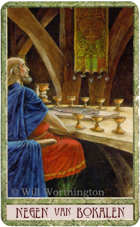 Druidcraft Tarot Nine of Cups  Will Worthington