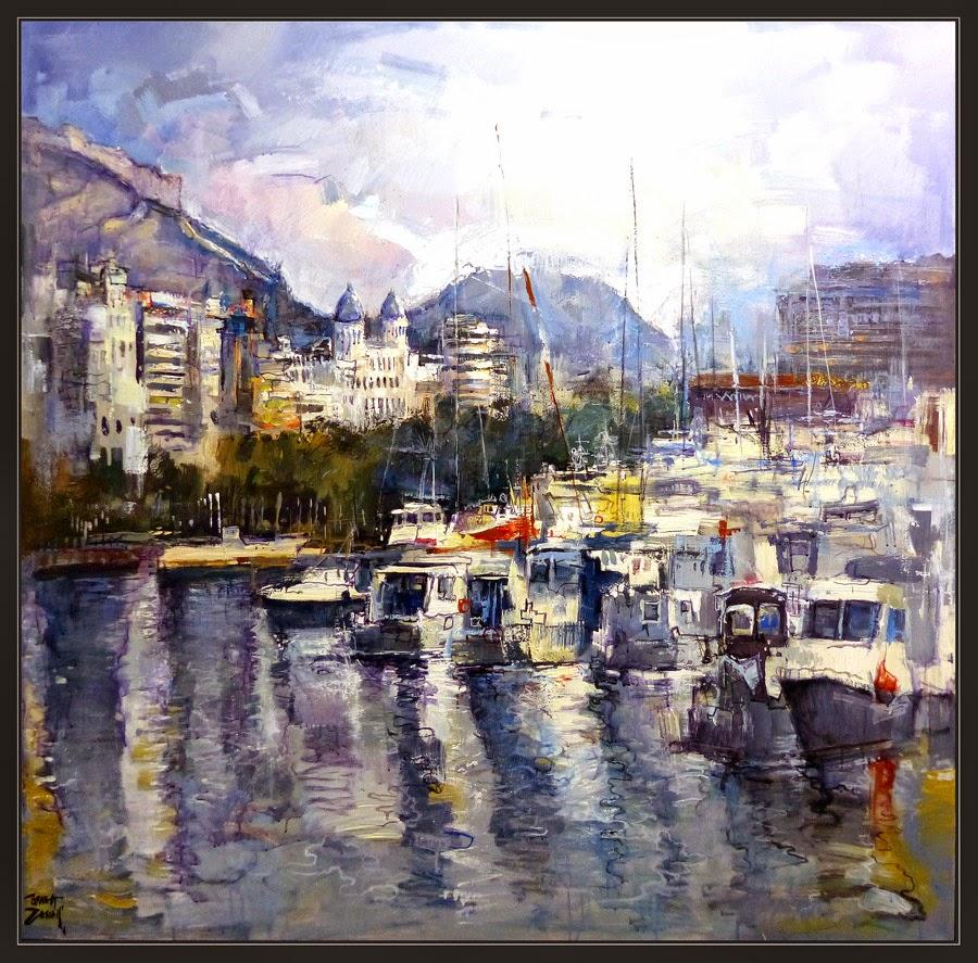 Ernest descals artista pintor alicante pintura puerto barcelona paisajes espa a catalunya - Pintores de barcelona ...
