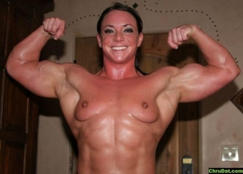 Muscular Woman Topless 65