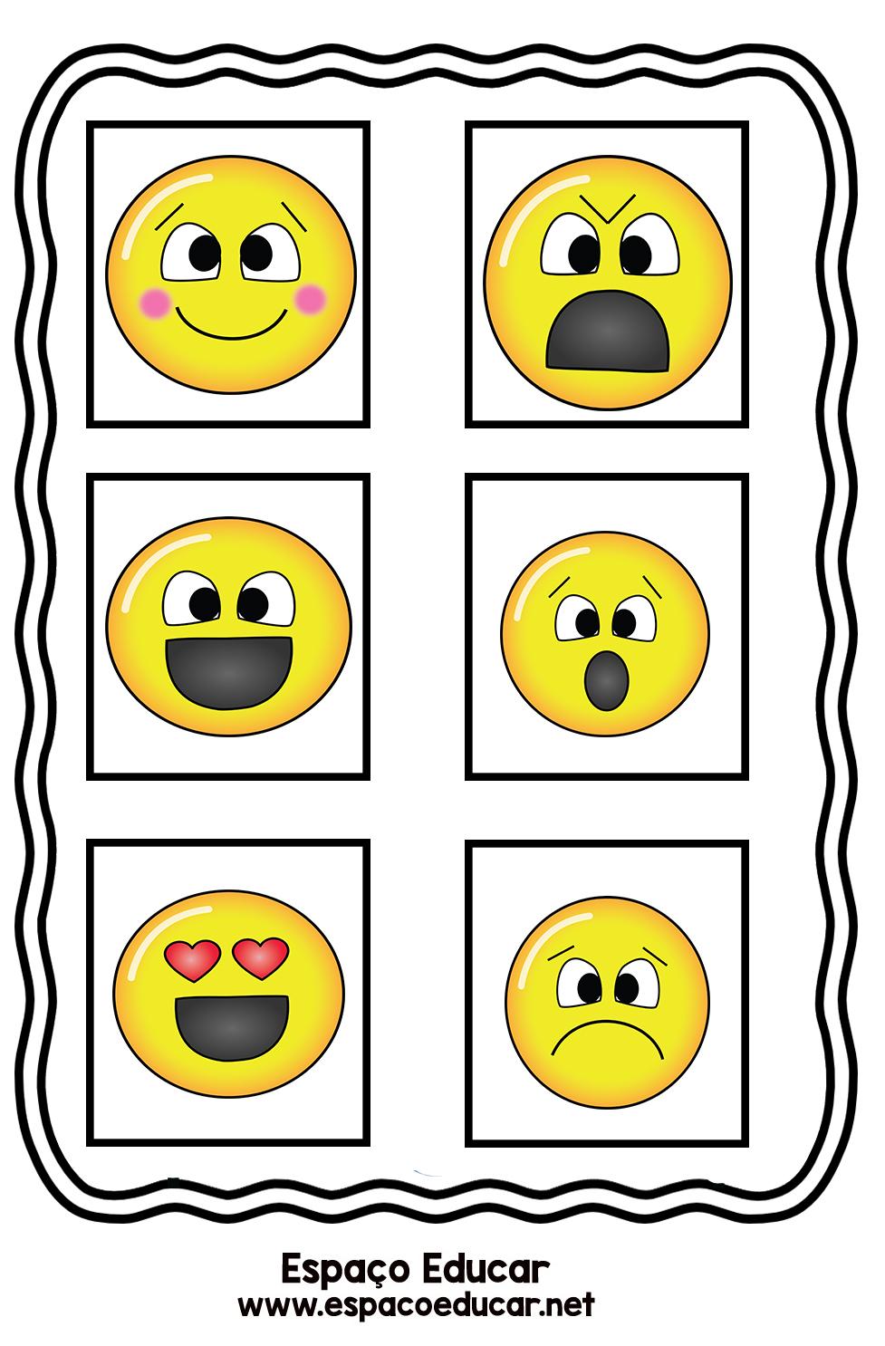 Atividade Sobre Emocoes Para A Educacao Infantil Com Emojis Ou