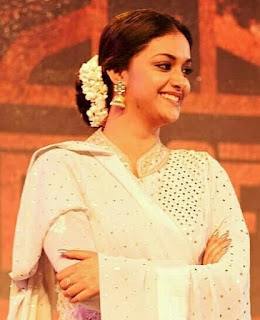 Keerthy Suresh in White Dress for Techofes Awards 2018