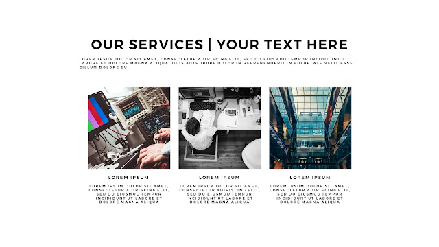 Free Services PowerPoint Template with Photo Image Placeholder Slide 5