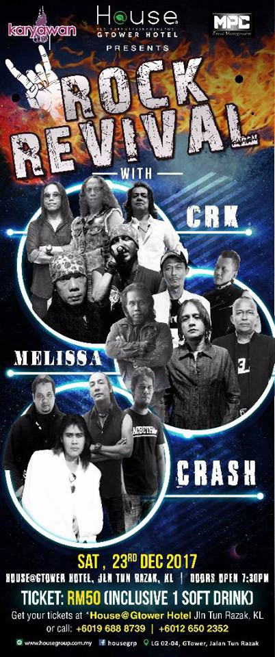 Event Rock Revival CRK MELLISA CRASH | 23122017