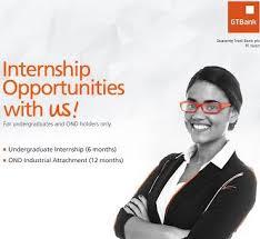 GTBank Internship Programme For Graduates, 2018