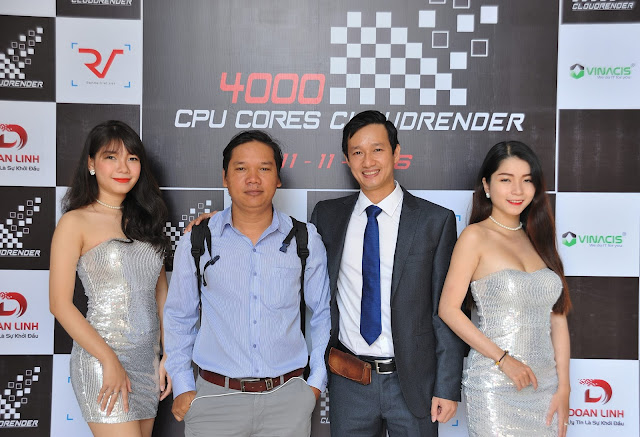 Jimmy Teo trong buổi ra mắt Cloudrender 4000 core