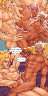 jojo's bizarre adventure jojo no kimyou na bouken stone ocean diuo brando father enrico puci yaoi slash gay art porn