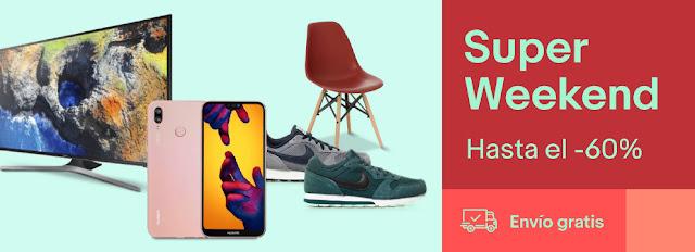 Mejores ofertas Super Weekend de eBay mayo 2018