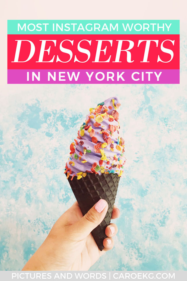 Looking for the most tasty and Instagram worthy desserts in NYC? This post will help you satiate that sweet tooth! Here are the most Instagrammable and best desserts in NYC. From cakes, shakes, donuts, ice cream, and more, this list has the must eat desserts in NYC. #nyc #nyceats #foodie #nycfoodie #newyorkcity #newyork #nyny #nycdessert #dessert