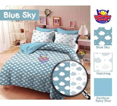 sprei Blue Sky star