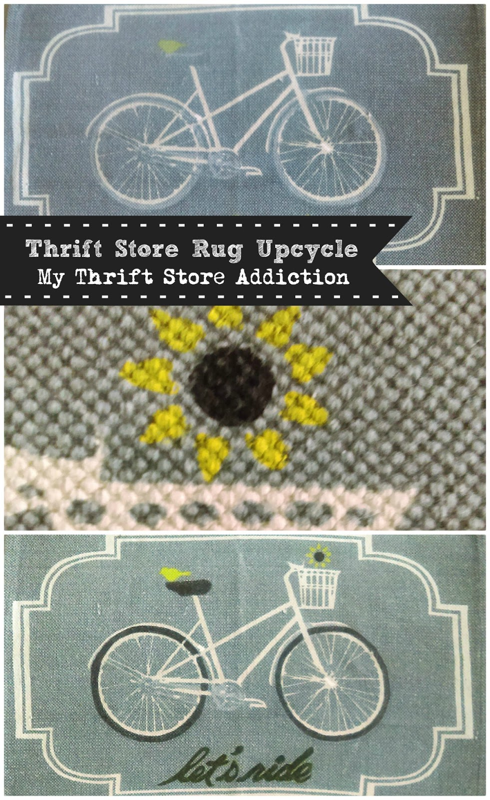 Thrift store rug upcycle