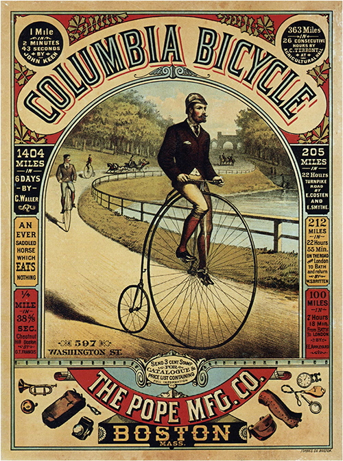 Columbia Bicycle - Vintage Advertising Poster, advertising, classic posters, free download, free posters, free printable, graphic design, printables, retro prints, vintage, vintage posters, vintage printables