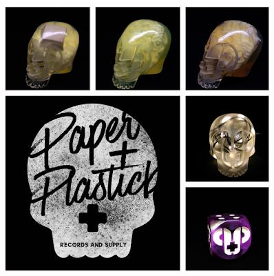 Paper + Plastick Ramen Noodle Resin Skulls by Vinnie Fiorello